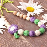 Слингобусы Гармония гризунци ожерелье ECO из буковых бусин вязаные пряжей из 100% хлопка Love Carry