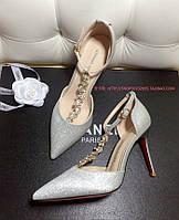 Нарядные туфли с пряжкой и камнями 2 цвета