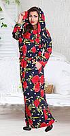 Модные женские платья-баталы (в расцветках)