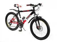 Велосип Азимут Омега 24 дюйма дисковые тормоза Azimut Omega GD горный,  одноподвес