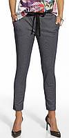 Женские летние брюки темно-синего цвета. Модель 210006 Enny, весна-лето 2016.
