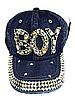 Бейсболка подростковая джинсовая BOY