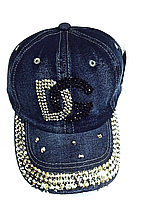 Бейсболка подростковая джинсовая DG