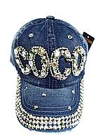 Бейсболка подростковая джинсовая COCO
