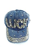 Бейсболка подростковая джинсовая LUCK