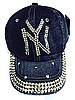 Бейсболка подростковая джинсовая