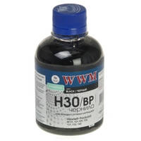 Чернила WWM для HP №21/121/122 200г Black Пигментные (H30/BP)