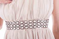 Длинное шифоновое платье, Стразы/камни  Супер Цена