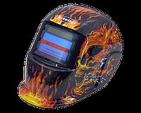 Сварочная маска хамелеон Титан S777В  (пламя)