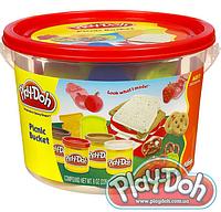 "Плей-Дох ведерко пластилина 4б ""Пикник"" Play-Doh (23414)"