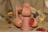 Набор Дерево + 6 чашек + красная глина