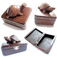 Шкатулка малая N3 Деревянная черепаха