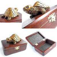 Шкатулка малая N2 Золотая черепаха