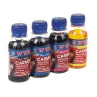 Комплект чернил WWM CARMEN для Canon (4 х 100г) B/C/M/Y Водорастворимые (4шт х 100г) Yellow, Magenta, Cyan, Bl