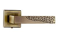 Ручки дверные раздельные Mongoosе Дюна античная бронза