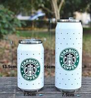 Кружка банка Starbucks в горошек