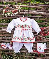 """Праздничный наряд для девочки от рождения до 4-х лет """"Калинка"""""""