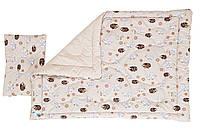 """Комплект """"Барашка"""". Одеяло + подушка для новорожденных."""