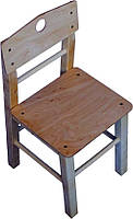 Детский стульчик с дерева 26 см для детского сада ТМ КИНД