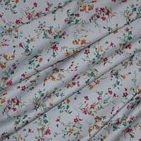 Декор сатен олиса цветы мелкие фон св. серый, бордо