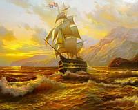 Набор алмазной вышивки Корабль на закате KLN 37 х 30 см (арт. FS036)