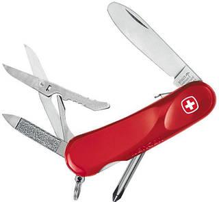Швейцарский удобный туристический нож Wenger Junior 13, 1 553 59 300 красный
