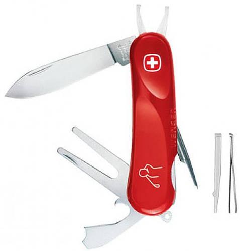 Перочинный туристический нож Wenger Golfer 56, 1 56 49 300 красный