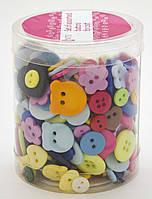 Набор пуговиц для творчества в ассортименте, пластик, 110г 952095