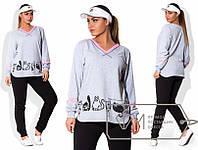 Женский спортивный костюм двухнитка Размеры: 48, 50, 52, 54, 56