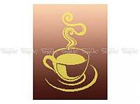 Схема вышивки бисером «Чашка чая монохром» (A3)