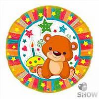 """Фольгированный шарик с гелием """"Мишка 1 годик"""" на День рождения"""