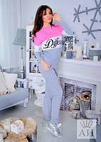 Спортивный костюм женский Different серо розовый , спортивные костюмы