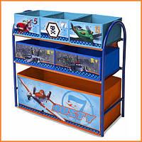 """Органайзер - ящик для игрушек """"Самолетики Disney"""" металлический Delta Children"""