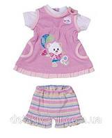Набор Платье с мишкой и Шортами для куклы My Little Baby Born Zapf Creation 818084M