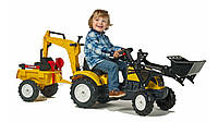 Трактор педальный с двумя ковшами и прицепом Falk 2055CN