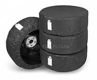 Комплект 4 защитных чехлов Season черный, для автомобильных шин и колес