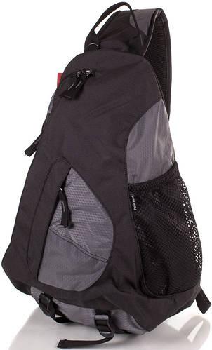 Рюкзак однолямочный городской 15 л. Onepolar (Ванполар) W1249-grey серый