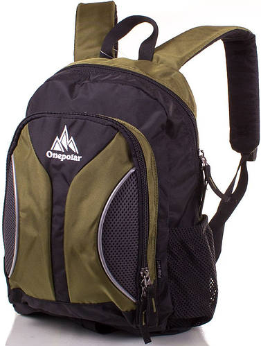 Рюкзак школьный 20 л. Onepolar W1297-green зеленый с серым