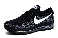 Кроссовки мужские Nike Flyknit Air Max, черные, фото 1