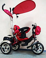 Детский трехколесный велосипед Lexus Trike KR01-А с дополнительной подножкой, надувные колеса, цвет красный