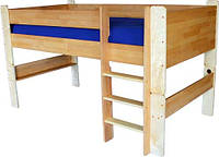 """Полувысокая кровать из дерева """"ТУРМ"""" ТМ КИНД (90х190 см)"""