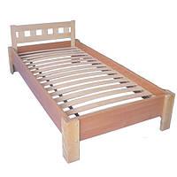"""Кровать для подростков из дерева """"Керл 1"""" ТМ КИНД (80х190 см)"""