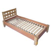 """Кровать для подростков из дерева """"Керл 2"""" ТМ КИНД (80х190 см)"""