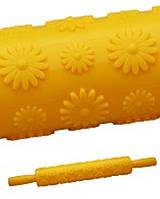 Скалка текстурная Empire 8972 цветы ромашки для раскатки теста