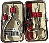 Замечательный маникюрный набор из 5 предметов Niegelon Solingen 07-0704 red