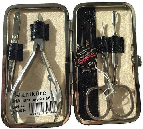 Шикарный маникюрный набор из 5 предметов Niegelon Solingen 07-0704 black