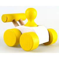 Деревянная машинка Малыш (Ду-08) желтая Руди