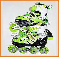 Раздвижные роликовые коньки с переставными колесами 0617 | р36-39 М