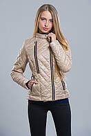 Яркая женская  стеганная куртка на синтепоне