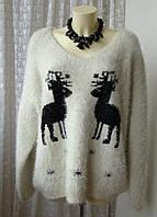 Свитер женский вязаный зимний толстый теплый большой размер бренд Joe Browns р.62-64 5834а
